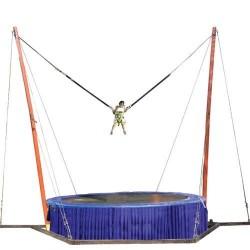 Acro bungee trampoline, 4 m x 7m, H 6,5 m