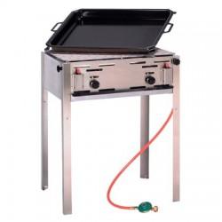 gas grill-bakplaat op butaan