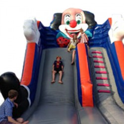 Springkasteel Clown slide, L 6 m x B 6 m x H 3 m