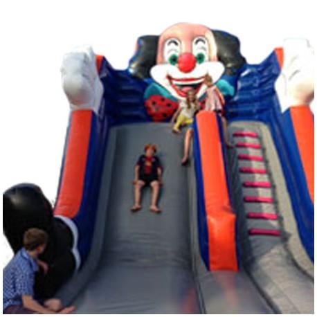 Springkasteel Clown slide, L 6 m x B 6 m x H 3 m