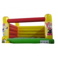 Springkasteel Kleine Clown, L 4 m x B 3,8 m x H 2,5 m