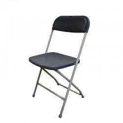 Chaise pliante gris