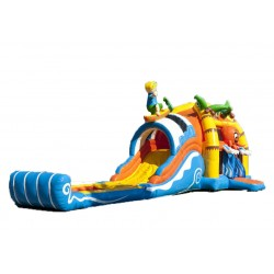 Bouncy castle Beach&Surf with swimming pool
